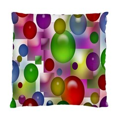 Colored Bubbles Squares Background Standard Cushion Case (two Sides) by Nexatart