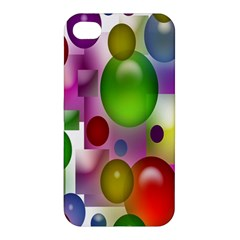 Colored Bubbles Squares Background Apple Iphone 4/4s Hardshell Case by Nexatart