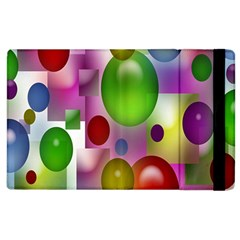 Colored Bubbles Squares Background Apple Ipad 3/4 Flip Case by Nexatart