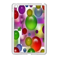 Colored Bubbles Squares Background Apple Ipad Mini Case (white) by Nexatart