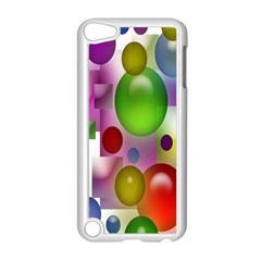 Colored Bubbles Squares Background Apple Ipod Touch 5 Case (white) by Nexatart