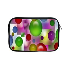 Colored Bubbles Squares Background Apple Ipad Mini Zipper Cases by Nexatart