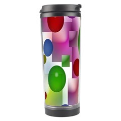 Colored Bubbles Squares Background Travel Tumbler by Nexatart