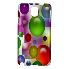 Colored Bubbles Squares Background Samsung Galaxy Note 3 N9005 Hardshell Case by Nexatart