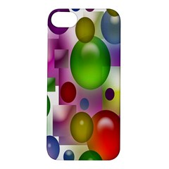 Colored Bubbles Squares Background Apple Iphone 5s/ Se Hardshell Case by Nexatart