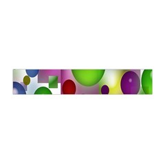 Colored Bubbles Squares Background Flano Scarf (mini) by Nexatart