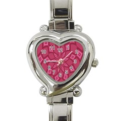 Fusia Abstract Background Element Diamonds Heart Italian Charm Watch by Nexatart