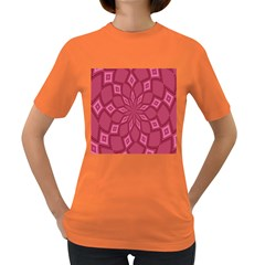Fusia Abstract Background Element Diamonds Women s Dark T-shirt by Nexatart