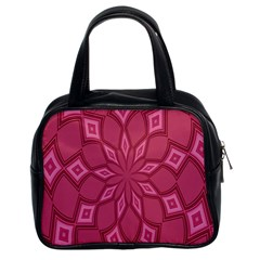 Fusia Abstract Background Element Diamonds Classic Handbags (2 Sides) by Nexatart