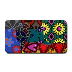Digitally Created Abstract Patchwork Collage Pattern Medium Bar Mats by Nexatart
