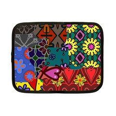 Digitally Created Abstract Patchwork Collage Pattern Netbook Case (small)  by Nexatart