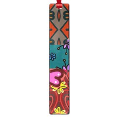 Digitally Created Abstract Patchwork Collage Pattern Large Book Marks by Nexatart