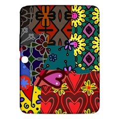 Digitally Created Abstract Patchwork Collage Pattern Samsung Galaxy Tab 3 (10 1 ) P5200 Hardshell Case  by Nexatart