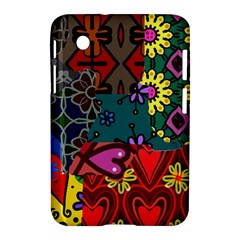 Digitally Created Abstract Patchwork Collage Pattern Samsung Galaxy Tab 2 (7 ) P3100 Hardshell Case  by Nexatart