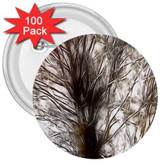 Tree Art Artistic Tree Abstract Background 3  Buttons (100 Pack)  by Nexatart