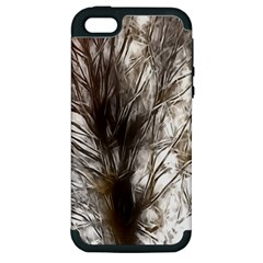 Tree Art Artistic Tree Abstract Background Apple Iphone 5 Hardshell Case (pc+silicone) by Nexatart