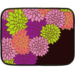 Floral Card Template Bright Colorful Dahlia Flowers Pattern Background Double Sided Fleece Blanket (mini)  by Nexatart