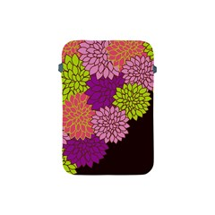 Floral Card Template Bright Colorful Dahlia Flowers Pattern Background Apple Ipad Mini Protective Soft Cases by Nexatart