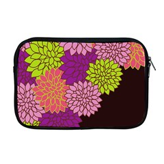 Floral Card Template Bright Colorful Dahlia Flowers Pattern Background Apple Macbook Pro 17  Zipper Case