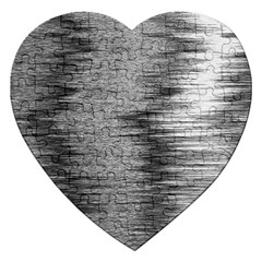 Rectangle Abstract Background Black And White In Rectangle Shape Jigsaw Puzzle (heart) by Nexatart