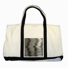Rectangle Abstract Background Black And White In Rectangle Shape Two Tone Tote Bag by Nexatart