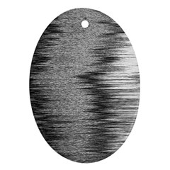 Rectangle Abstract Background Black And White In Rectangle Shape Oval Ornament (two Sides)