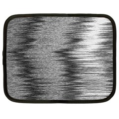 Rectangle Abstract Background Black And White In Rectangle Shape Netbook Case (xl)  by Nexatart