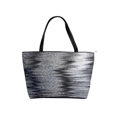 Rectangle Abstract Background Black And White In Rectangle Shape Shoulder Handbags by Nexatart