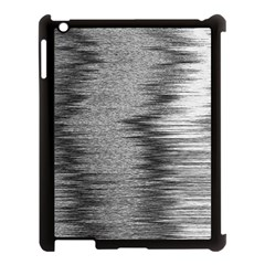 Rectangle Abstract Background Black And White In Rectangle Shape Apple Ipad 3/4 Case (black) by Nexatart