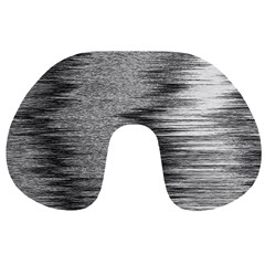 Rectangle Abstract Background Black And White In Rectangle Shape Travel Neck Pillows by Nexatart