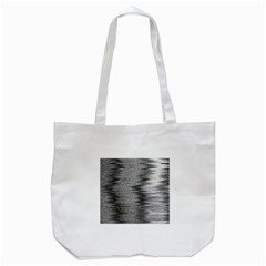Rectangle Abstract Background Black And White In Rectangle Shape Tote Bag (white) by Nexatart