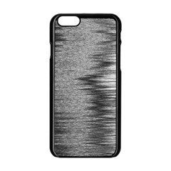 Rectangle Abstract Background Black And White In Rectangle Shape Apple Iphone 6/6s Black Enamel Case by Nexatart