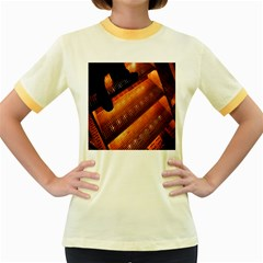 Magic Steps Stair With Light In The Dark Women s Fitted Ringer T Shirts by Nexatart