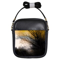 Tree Art Artistic Abstract Background Girls Sling Bags by Nexatart
