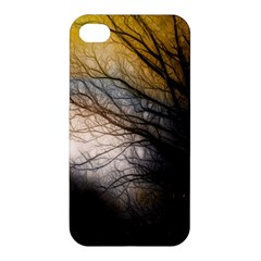 Tree Art Artistic Abstract Background Apple Iphone 4/4s Premium Hardshell Case