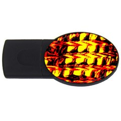 Yellow Seamless Abstract Brick Background Usb Flash Drive Oval (4 Gb) by Nexatart