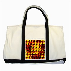 Yellow Seamless Abstract Brick Background Two Tone Tote Bag
