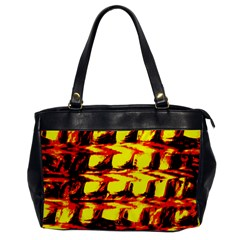 Yellow Seamless Abstract Brick Background Office Handbags by Nexatart