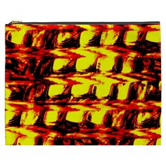 Yellow Seamless Abstract Brick Background Cosmetic Bag (xxxl)  by Nexatart