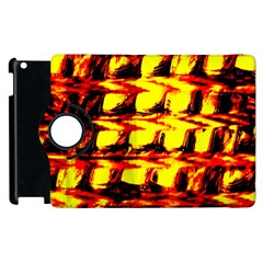 Yellow Seamless Abstract Brick Background Apple Ipad 2 Flip 360 Case
