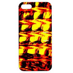 Yellow Seamless Abstract Brick Background Apple Iphone 5 Hardshell Case With Stand by Nexatart