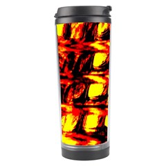 Yellow Seamless Abstract Brick Background Travel Tumbler by Nexatart