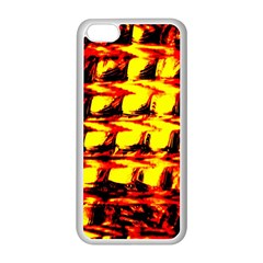 Yellow Seamless Abstract Brick Background Apple Iphone 5c Seamless Case (white) by Nexatart
