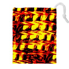 Yellow Seamless Abstract Brick Background Drawstring Pouches (xxl) by Nexatart