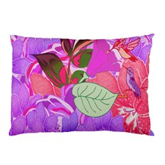 Abstract Design With Hummingbirds Pillow Case by Nexatart