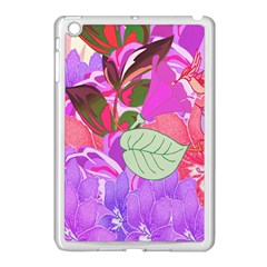 Abstract Design With Hummingbirds Apple Ipad Mini Case (white) by Nexatart