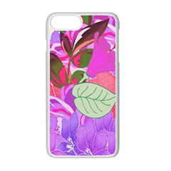 Abstract Design With Hummingbirds Apple Iphone 7 Plus White Seamless Case