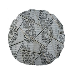 The Abstract Design On The Xuzhou Art Museum Standard 15  Premium Flano Round Cushions by Nexatart