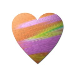 Metallic Brush Strokes Paint Abstract Texture Heart Magnet by Nexatart