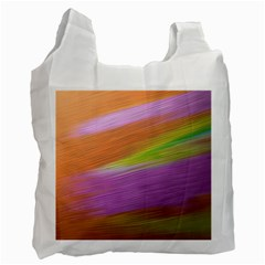 Metallic Brush Strokes Paint Abstract Texture Recycle Bag (two Side)  by Nexatart